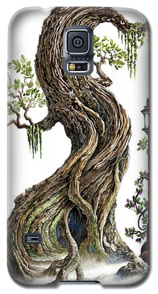 Sylvia And Her Lamp On White Galaxy S5 Case by Curtiss Shaffer