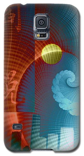 Symbols Vertical Galaxy S5 Case by Ursula Freer