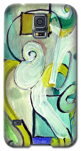 Galaxy S5 Case featuring the painting Symphony In Green by Stephen Lucas