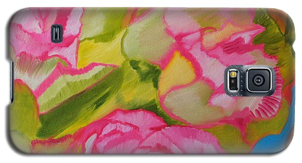 Galaxy S5 Case featuring the painting Symphony Of Roses by Meryl Goudey