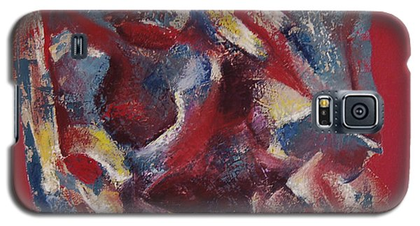 Galaxy S5 Case featuring the painting Syncopation by Mini Arora