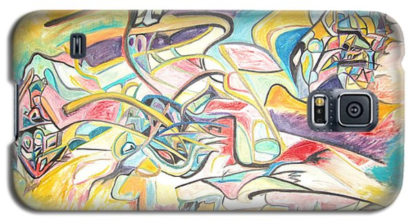 Galaxy S5 Case featuring the painting Synergetic Statement by Esther Newman-Cohen