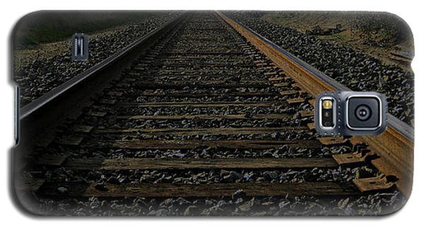 Galaxy S5 Case featuring the photograph T Rails by Janice Westerberg