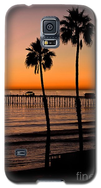 T Street Pier San Clemente California From The Book My Ocean Galaxy S5 Case by Artist and Photographer Laura Wrede