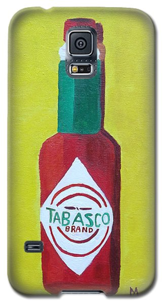 Galaxy S5 Case featuring the painting Tabasco Brand Pepper Sauce by Margaret Harmon