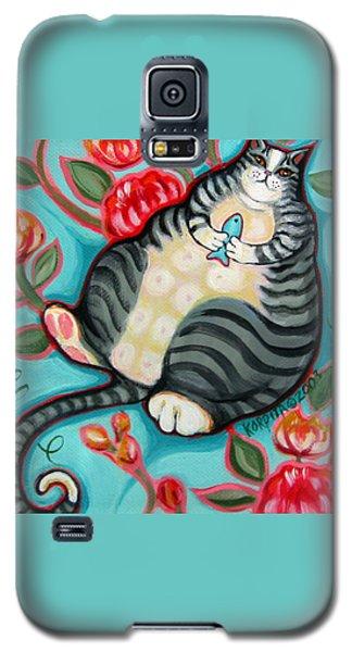 Tabby Cat On A Cushion Galaxy S5 Case