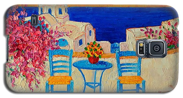 Table For Two In Santorini Greece Galaxy S5 Case