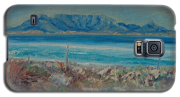 Galaxy S5 Case featuring the painting Table Mountain Cape Town by Thomas Bertram POOLE