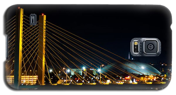 Galaxy S5 Case featuring the photograph Tacoma Dome And Bridge by Tikvah's Hope