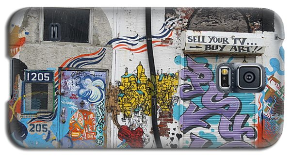 Galaxy S5 Case featuring the photograph Tagging North Philly by Christopher Woods