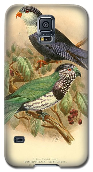 Parakeet Galaxy S5 Case - Tahiti Lory by Dreyer Wildlife Print Collections