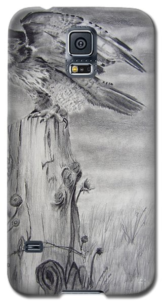 Galaxy S5 Case featuring the drawing Taking Flight by Laurianna Taylor