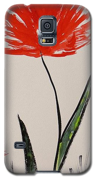 Tall Red Wildflower Galaxy S5 Case by Mary Carol Williams