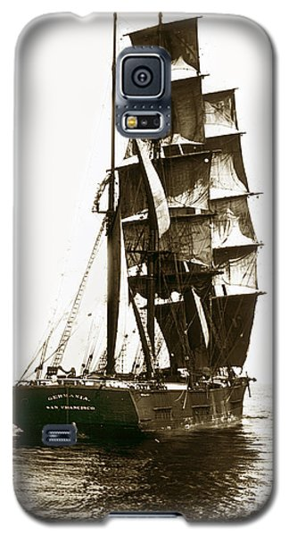 Galaxy S5 Case featuring the photograph Tall Ship Germania Out Of San Francisco California  Circa 1900 by California Views Mr Pat Hathaway Archives