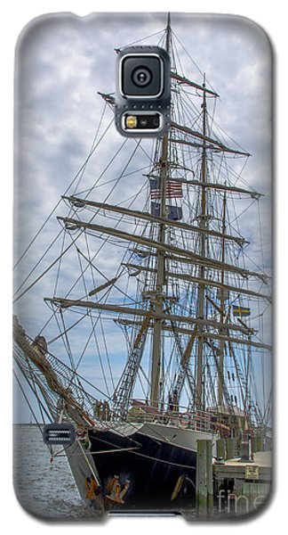 Galaxy S5 Case featuring the photograph Tall Ship Gunilla Vertical by Dale Powell