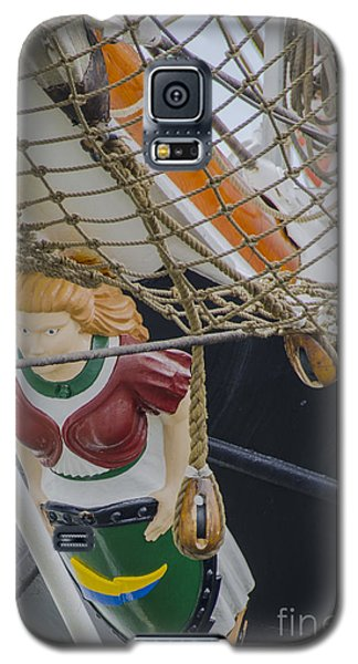 Galaxy S5 Case featuring the photograph Tall Ship Gunilla Masthead by Dale Powell