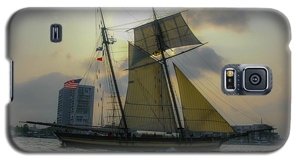 Galaxy S5 Case featuring the photograph Tall Ship In Charleston by Dale Powell