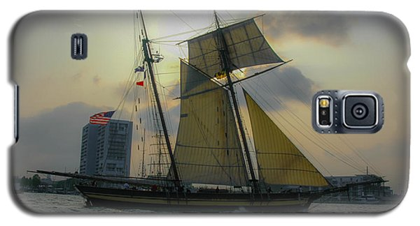 Tall Ship In Charleston Galaxy S5 Case by Dale Powell