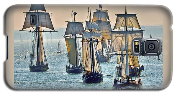 Galaxy S5 Case featuring the photograph Tall Ships by Geraldine Alexander