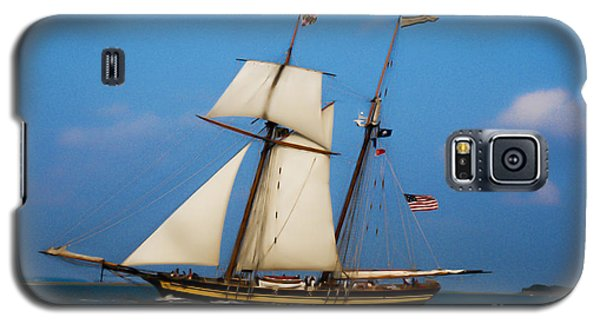 Tall Ships Over Charleston Galaxy S5 Case by Dale Powell