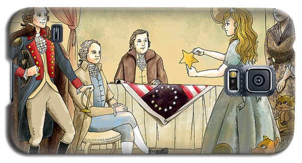 Galaxy S5 Case featuring the painting Tammy Meets Betsy Ross And George Washington by Reynold Jay