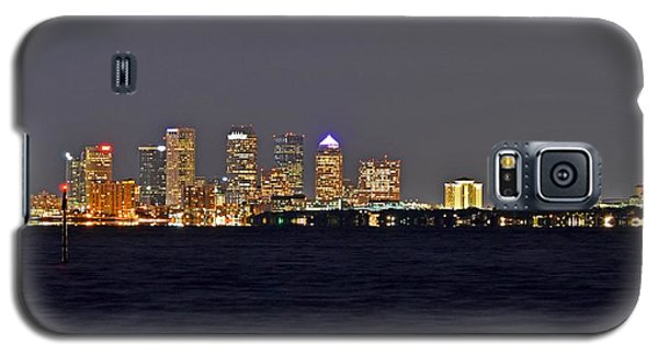 Galaxy S5 Case featuring the photograph Tampa City Skyline At Night 7 November 2012 by Jeff at JSJ Photography