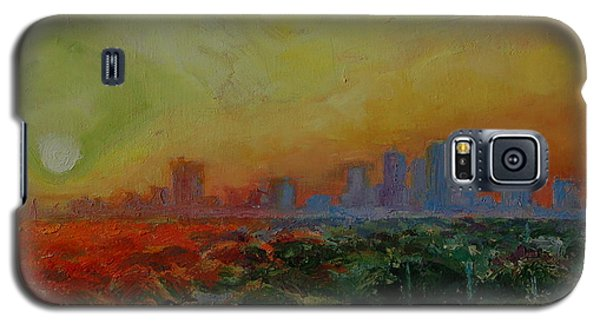 Galaxy S5 Case featuring the painting Tampa Sunrise by Thomas Bertram POOLE