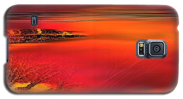 Galaxy S5 Case featuring the painting Tangerine Dream by Yul Olaivar