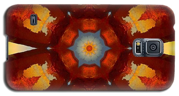 Tangerine Sunset Crystal Mandala Galaxy S5 Case