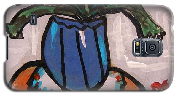 Galaxy S5 Case featuring the painting Tangerine Table by Mary Carol Williams