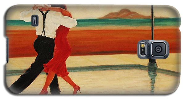 Galaxy S5 Case featuring the painting Tango Heat by Janet McDonald