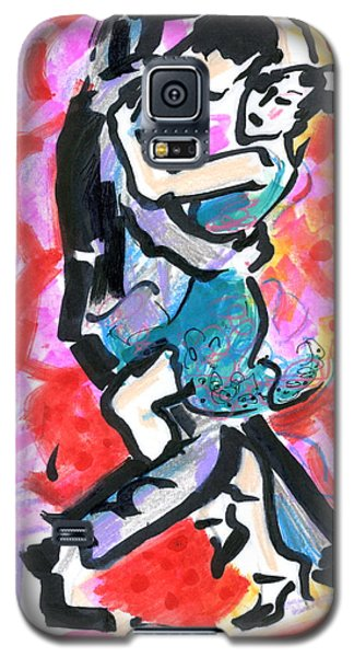 Galaxy S5 Case featuring the painting Tango Pair by Mary Armstrong