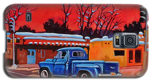 Taos Blue Truck At Dusk Galaxy S5 Case by Art West