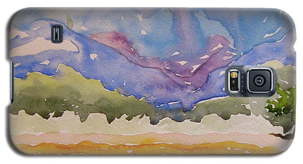 Galaxy S5 Case featuring the painting Taos Fields by Beverley Harper Tinsley