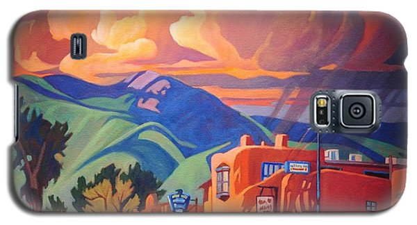 Galaxy S5 Case featuring the painting Taos Inn Monsoon by Art James West