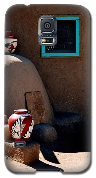Galaxy S5 Case featuring the photograph Taos New Mexico Pottery by Jacqueline M Lewis