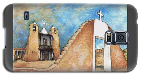 Taos Pueblo New Mexico - Watercolor Art Galaxy S5 Case