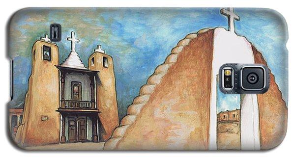 Taos Pueblo New Mexico - Watercolor Art Painting Galaxy S5 Case