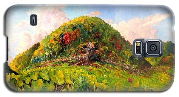 Galaxy S5 Case featuring the painting Taro Garden Of Papua by Jason Sentuf