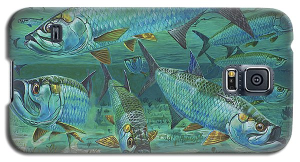 Tarpon Rolling In0025 Galaxy S5 Case by Carey Chen