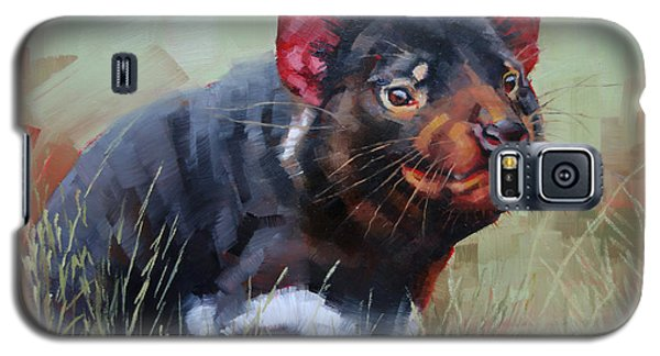 Galaxy S5 Case featuring the painting Tasmanian Devil by Margaret Stockdale