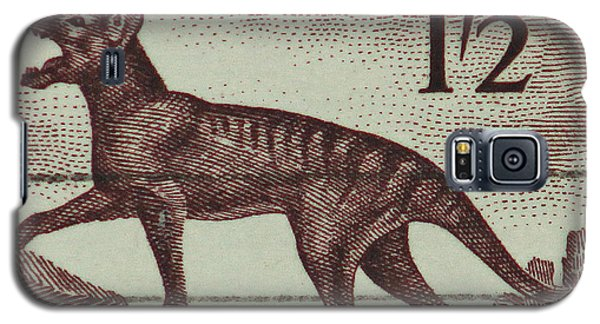 Tasmanian Tiger Vintage Postage Stamp Galaxy S5 Case by Andy Prendy