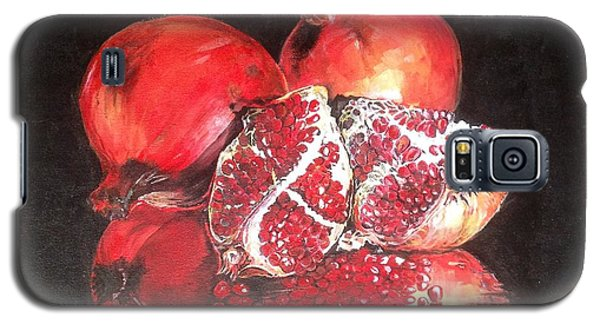 Galaxy S5 Case featuring the painting Taste Of Red by Iya Carson