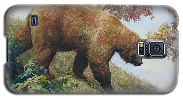 Galaxy S5 Case featuring the painting Tasty Raspberries For Our Bear by Svitozar Nenyuk