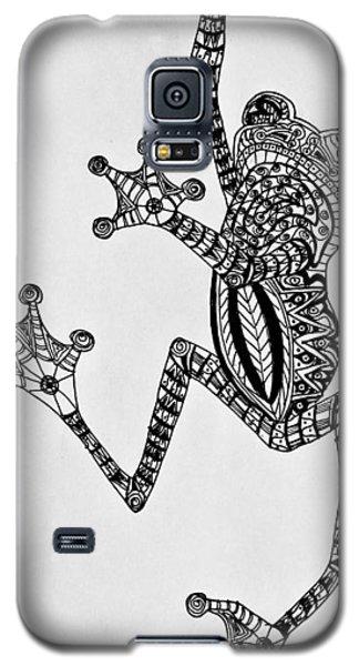 Tattooed Tree Frog - Zentangle Galaxy S5 Case by Jani Freimann