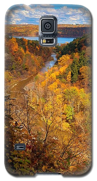 Galaxy S5 Case featuring the photograph Taughannock River Canyon In Colorful Fall Ithaca New York by Paul Ge