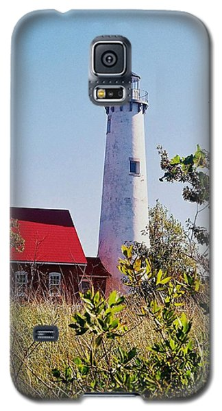 Galaxy S5 Case featuring the photograph Tawas Point Lighthouse...from Tawas Bay Side by Daniel Thompson