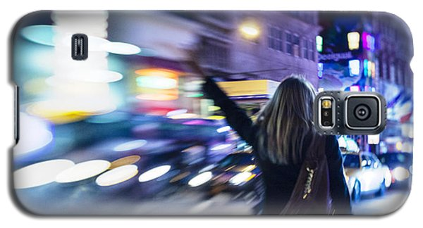 Taxi's Hunting In Manhattan Galaxy S5 Case