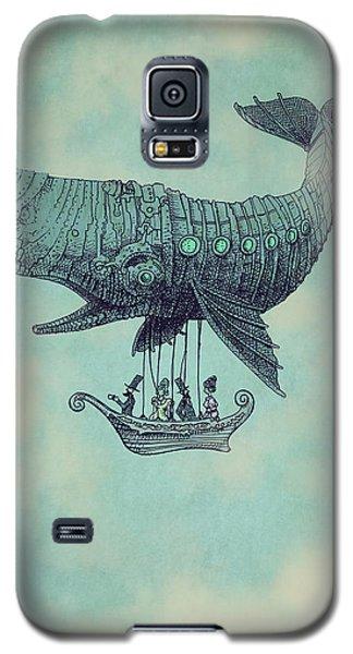 Whale Galaxy S5 Case - Tea At Two Thousand Feet by Eric Fan