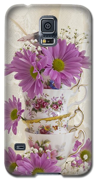 Tea Cups And Daisies  Galaxy S5 Case